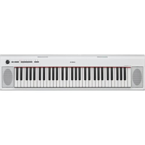 ヤマハ YAMAHA 電子キーボード 61鍵盤 piaggero ピアジェーロ NP-12WH ホワイト ボックス型鍵盤/音色紹介デモ10曲/ピアノ名曲10曲/録音機能/AWMステレオサンプリング/最大同時発音数64/音色数10