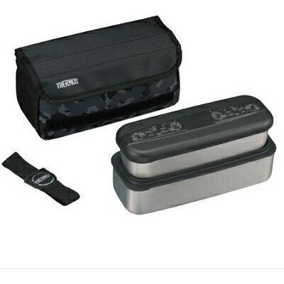 サーモス フレッシュランチボックス 上容器0.38、下容器0.72L DSD-1102W クロ