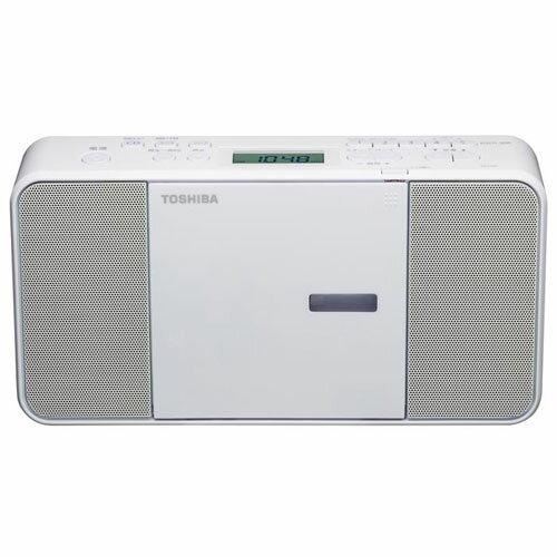 東芝 TOSHIBA ラジカセ CDラジカセ TY-C250-W ホワイト CDラジオ ワイドFM対応/スリープタイマー付