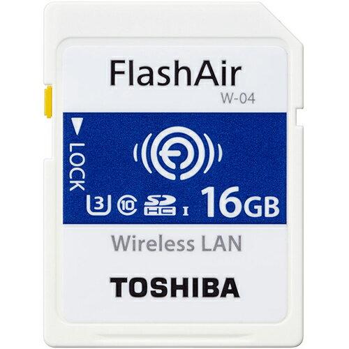 東芝 SD-UWA016G FlashAir W-04 無線LAN内蔵SDHCカード 16GB CLASS10