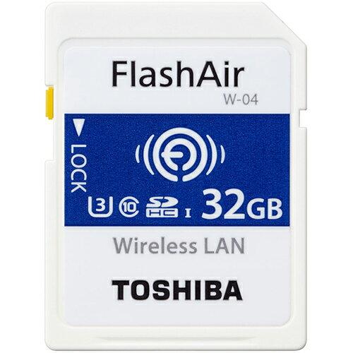 東芝 SD-UWA032G FlashAir W-04 無線LAN内蔵SDHCカード 32GB CLASS10