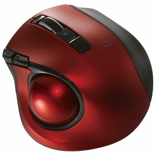 ナカバヤシ MUS-TBLF134R(レッド) 小型Bluetooth トラックボールマウス 静音 5ボタン