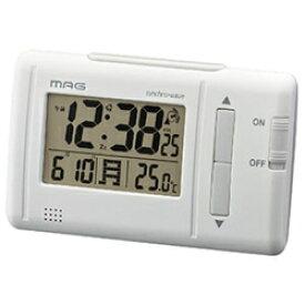 ノア精密 T-692(ホワイト) 電波目覚まし時計 ファルツ