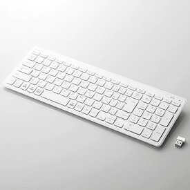 エレコム TK-FDP099TWH(ホワイト) 無線キーボード 日本語配列