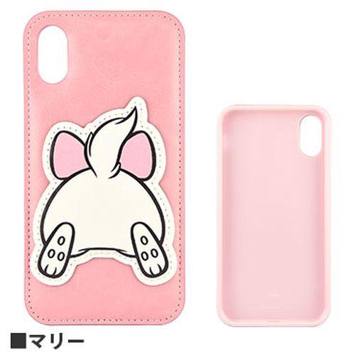 グルマンディーズ ディズニーキャラクター OSHIRI KAWAII ダイカットケース マリー iPhone XR用 DN-588F