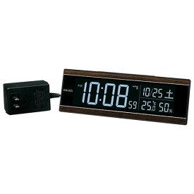 セイコー DL306B(茶木目模様) 電波目覚まし時計 シリーズC3