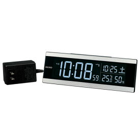 セイコー DL306S(銀色ヘアライン模様) 電波目覚まし時計 シリーズC3