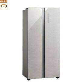 【標準設置料金込】【送料無料】アクア AQR-SBS45J-S(ヘアラインシルバー) 2ドア冷蔵庫 観音開き 449L[代引・リボ・分割・ボーナス払い不可]