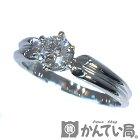 【中古】 Pt900 ダイヤモンド 0.29ct リング 約8.5号 指輪 プラチナ ダイヤ 1石 ジュエリー エンゲージ シンプル レディース プレゼント 【USED-A】