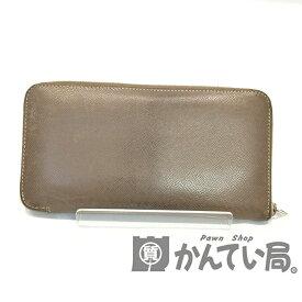 【中古】HERMES (エルメス) アザップロング オールレザー 長財布【USED-C】