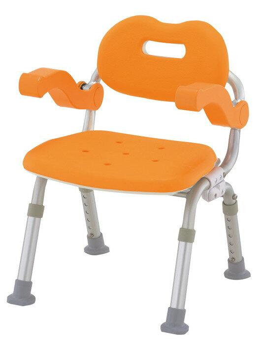 【在庫限りの大特価】パナソニックエイジフリーシャワーチェアーコンパクトサポートタイプ(折りたたみ)VAL41301D(オレンジ)VAL41301A(ブルー) 送料無料[介護 ケア サポート 介護用品 通販 風呂 折りたたみ 椅子 いす 父の日]