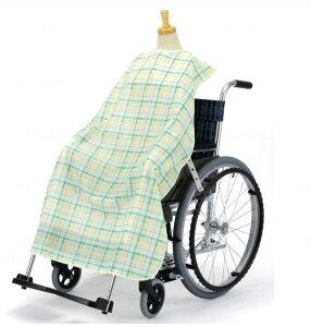 ピジョンタヒラ 車椅子食卓椅子用こばさない食事エプロン 11265・11266 フラワー柄・チェック柄[介護 ケア サポート 介護用品 通販 食事補助 食事介助 車いす 車椅子]