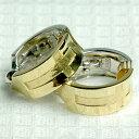 【ピアスに見えるイヤリング ピアリング】 K18&ホワイトゴールド フープ型イヤリング リバーシブルタイプ