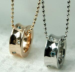 ダイヤモンド ネックレス エタニティ ダイヤ ネックレス カラーダイヤモンドはお好みで選べます♪