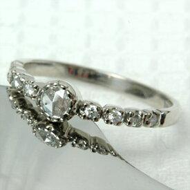 K18 18金 リング ローズカットダイヤモンドリング