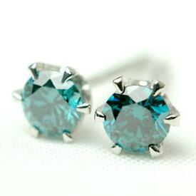 ブルー ダイヤモンド ピアス 0.3ct プラチナ900 K18イエローゴールド K18ピンクゴールド
