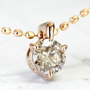 ダイヤモンドネックレス0.2ct一粒ダイヤK18シャンパンブラウンダイヤモンドペンダントネックレス【ダイヤネックレス】【スキンジュエリー】【あす楽対応】