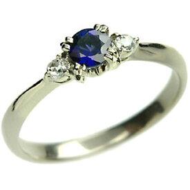 ブルー サファイヤ × ローズカット ダイヤモンド リング K18 18金 リング 4.0mm サファイア 9月の誕生石