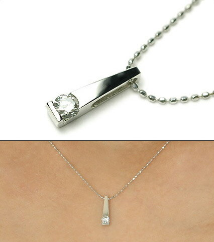 K18 キラッと煌く一粒 ダイヤモンド ペンダント ネックレス 0.1ctK18ホワイトゴールド・K18ピンクゴールド・K18イエローゴールド