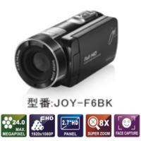 【あす楽対応_関東】【在庫あり送料無料】【特売品】joyeux ジョワイユ フルハイビジョンデジタルムービー ビデオカメラ JOY-F6(BK-ブラック)JOYF6BK