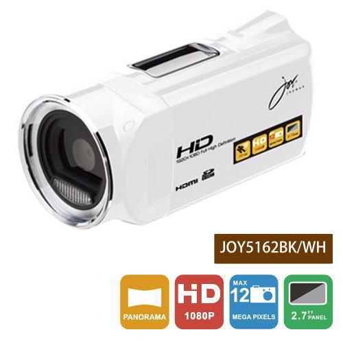 【あす楽対応_関東】【在庫あり送料無料】joyeux ジョワイユ FULLHDビデオカメラ JOY-5162(WH-ホワイト)JOY5162WH