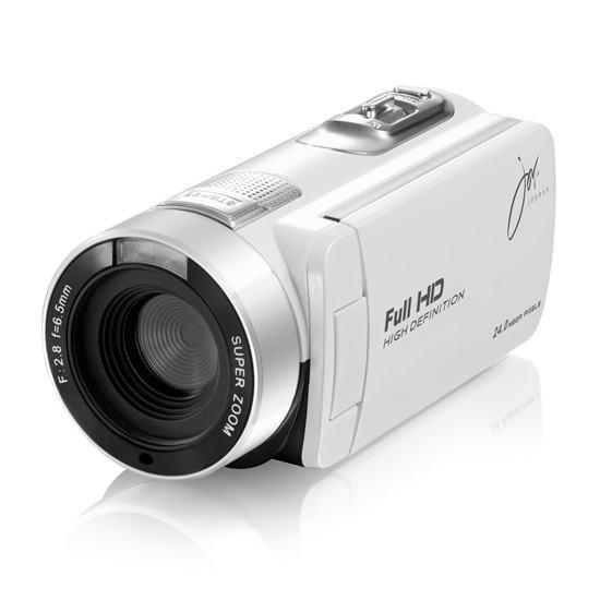 【あす楽対応_関東】【在庫あり送料無料】【特売品】joyeux ジョワイユ フルハイビジョンデジタルムービー ビデオカメラ JOY-F6(WH-ホワイト)JOYF6WH