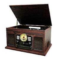 【送料無料】FUZEフューズ外部機器で再生した音源(AUX)をSD、USBに録音保存Biuetooth搭載クラシックレコードプレーヤーCLS50