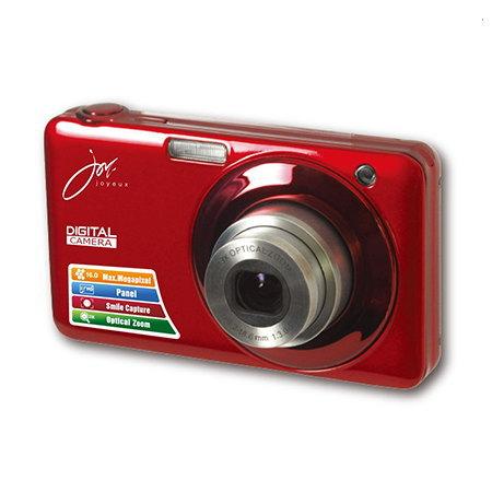 【あす楽対応_関東】【在庫あり送料無料】【特売品】joyeux ジョワイユ 16MEGA PIXEL CMOS 光学ズーム/デジタルズーム4倍 光学ズーム3倍 500万画素 デジタルカメラ JOY-V600(RD-レッド)JOYV600RD