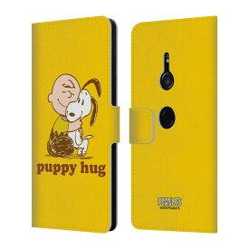送料無料 オフィシャル PEANUTS SNOOPY HUG レザー手帳型ウォレットタイプケース SONY スマホケース 1