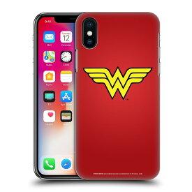 送料無料 オフィシャル WONDER WOMAN DC COMICS ロゴ ハードバックケース Apple iPhone スマホケース