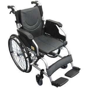 【乗りやすく、降りやすく】Nice Way5(ナイスウェイ) 自走式折りたたみ 車椅子【座面幅約41cm】【頑丈】【自走式】【自走式介護・介助用】【クッション付き】