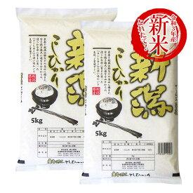 令和3年産 新米 10kg 新潟産コシヒカリ お米 送料無料 (5kg×2) 精米 白米