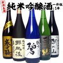 日本酒 飲み比べセット 新潟五蔵 純米吟醸酒 1.8L×5本 一升瓶 5本飲みくらべ 全て純米吟醸酒 送料無料 日本酒 セット(越の碧、三つ柏、郷越後、寒中梅、朝日山)ギフトにも 日本酒 お酒 ギフト プレゼント