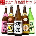 日本酒 飲み比べセット 純米大吟醸入 獺祭純米大吟醸45 越乃寒梅 八海山 当店限定酒を飲み比べ1800ml×5本(村雨)ギ…