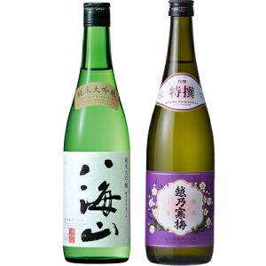 父の日ギフト 八海山 純米大吟醸 720ml と 越乃寒梅 特撰 吟醸 720ml 日本酒 飲み比べセット 日本酒 飲み比べ ギフト 贈り
