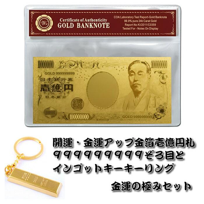 金の一億円札 999999999ぞろ目 金運の極みセット お財布風水 金運アップのプレゼントとしても最適です