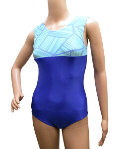 〔Mサイズ〕ノースリーブレオタード*ブルーロック レオタード大人用 水色 青 器械体操 新体操 バレエ ヨガ フィットネス 女性用 日本製 丈夫 ランニングタイプ 袖なし