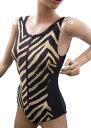 ファスナー付デザイン水着雷神 サイズ:S・M・L スイミング 水中ウォーキング水着 ユニバーサルファッション おしゃれ カッコいい ス…
