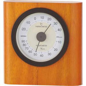 エンペックス気象計 温度湿度計 イートン温湿度計 置き用 日本製 ブラウン TM-642