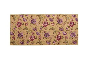 イケヒコ・コーポレーション 廊下敷 ナイロン100% 花柄 『アヒナ』 パープル 約80×120cm 滑りにくい加工