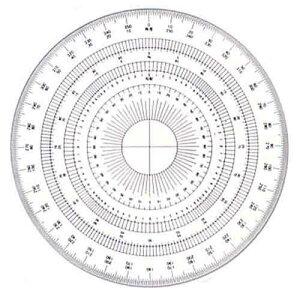 ドラパス 全円分度器15cm アクリル製 16-512 360ド 141602
