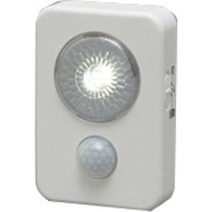 アイリスオーヤマ 乾電池式LED屋内センサーライト ISL3HN-W ホワイト