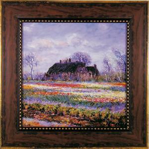ユーパワー Museum Art ミュージアムシリーズ Gel加工アートフレーム モネ 「チューリップ畑」 MW-10033【smtb-s】