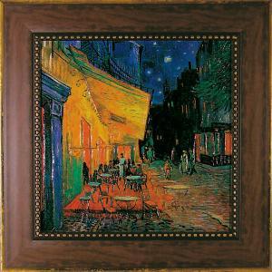 ユーパワー Museum Art ミュージアムシリーズ Gel加工アートフレーム ゴッホ 「夜のカフェテラス」 MW-10041【smtb-s】