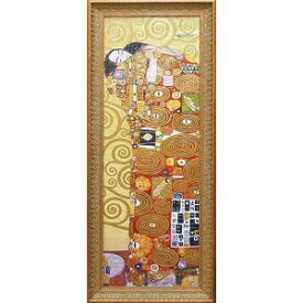 ユーパワー Klimt グスタフクリムト Gel加工アートフレーム 抱擁 GK-18002【smtb-s】