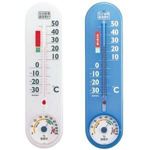 エンペックス (EMPEX) エンペックス気象計 温度湿度計 生活管理温湿度計 壁掛け用 日本製 クリアホワイト TG-2451