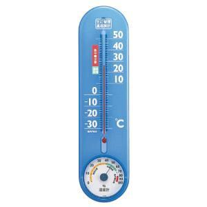 エンペックス (EMPEX) エンペックス気象計 温度湿度計 生活管理温湿度計 壁掛け用 日本製 クリアブルー TG-2456