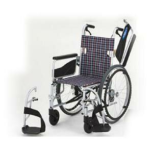 日進医療器 アルミ自走車いす NEO-1W / 座幅42cm チェック 1台