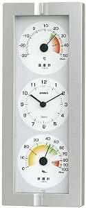 エンペックス (EMPEX) エンペックス気象計 温度湿度計 生活管理温湿度計 壁掛け用 日本製 シャインシルバー TQ-2440