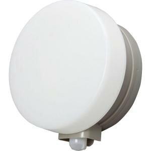 アイリスオーヤマ 乾電池式LEDセンサーライト ウォールタイプ 丸型 電球色 ウォームシルバー BOS-WL1M-WS【smtb-s】